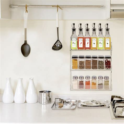 wall mounted clear acrylic vertical spice storage rack storage shelveslucite kitchen storage