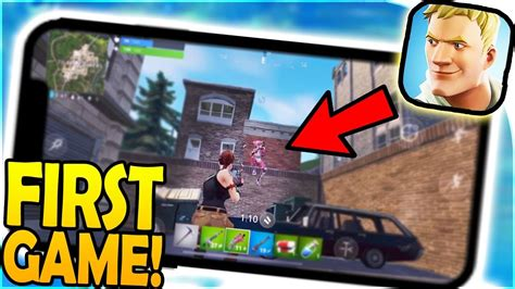 fortnite mobile gameplay  game  mobile
