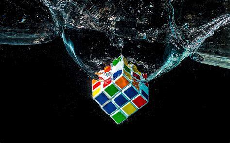 water digital art rubiks cube wallpapers hd desktop