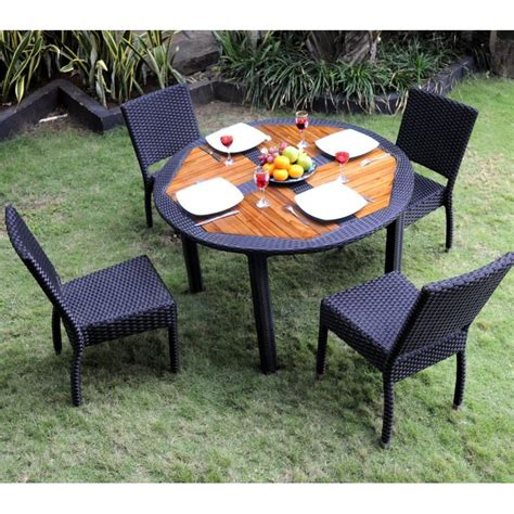 ensemble table et chaise de jardin ensemble table ronde de jardin en teck et chaises de