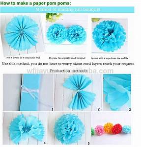 Fashion decoration hanging tissue pom poms tissue paper for How to make tissue pom poms
