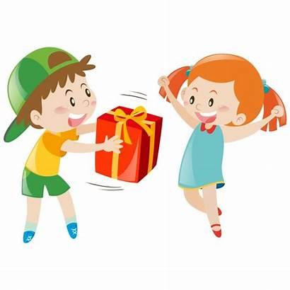Vector Giving Present Boy Donate Freepik