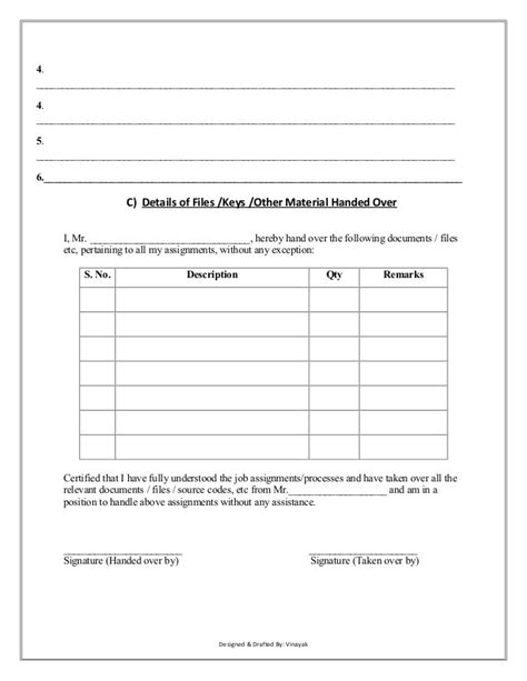 handover letter template cool templates www template kid