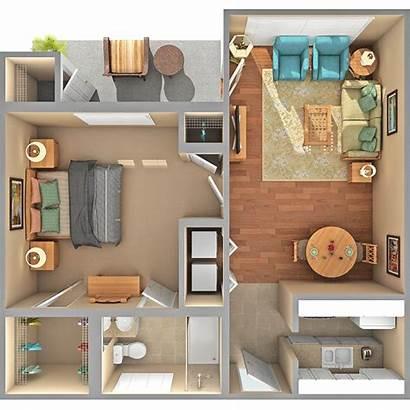 Apartment Floor Plans Bedroom Village 400 Sq