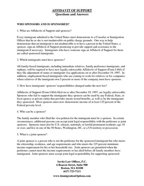29 Images of Template Affidavit From Spouse Immigration
