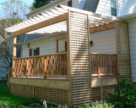 cedar deck  lattice panels  prairie construction