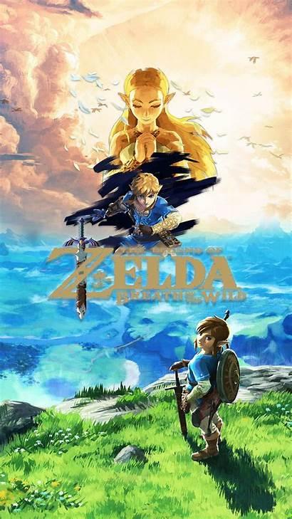 Zelda Phone Breath Wild Legend Wallpapers Botw