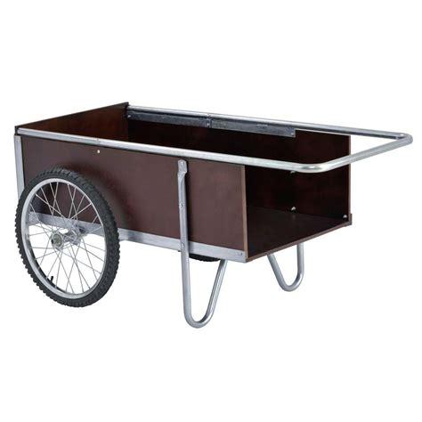 depot wagon sandusky 53 in w 6 5 cu ft yard garden cart gc5332 Home