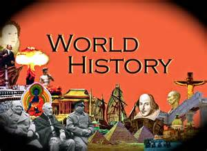 World History the Word in Bubble Letters