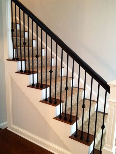 Metal Banister by Best 25 Wood Handrail Ideas On E M Stairs And