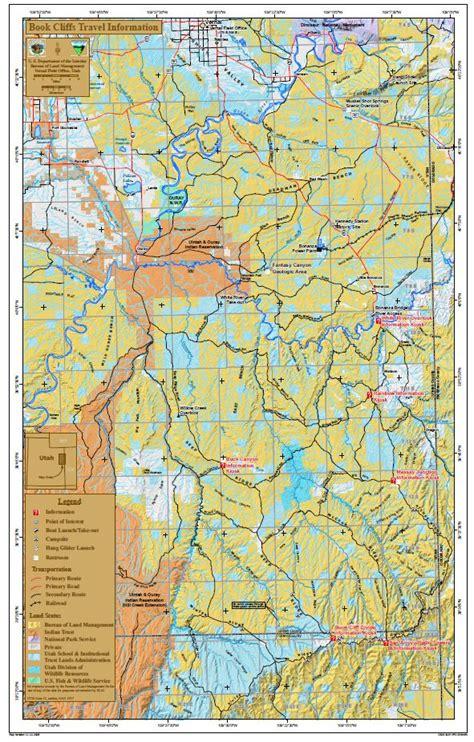 media public room utah book cliffs travel map bureau