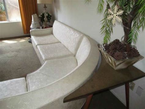 vintage mid century modern curved sectional sofa