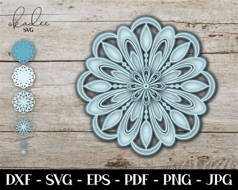 You know, i try to make useful cricut projects. 3D Mandala SVG Layered Mandala SVG Mother's Day Gift ...