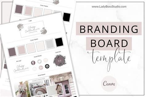 classy branding board templates canva lady boss biz