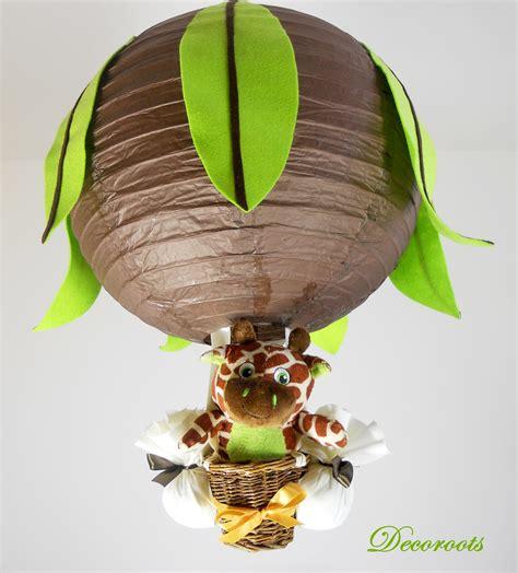 lustre pour chambre bébé le montgofière girafe jungle marron chocolat vert anis