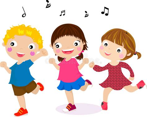 Featuring Dancing Kids Stock Illustration. Illustration Of
