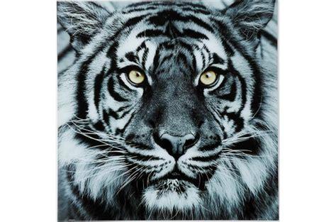 bureau noir conforama tableau tigre en verre tableau animaux pas cher