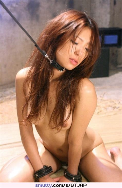 Asian Collar Collared Leash Leashed Cuffs Cuffed Nude Kneeling