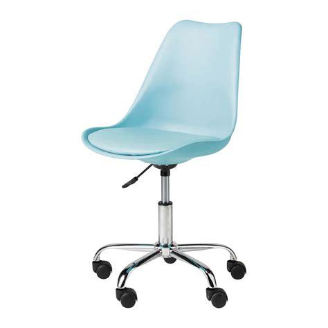 chaises de bureaux chaise de bureau bleue bristol maisons du monde
