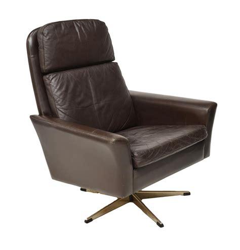 mid century modern brown leather armchair june