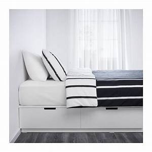 Cadre Lit Avec Rangement : nordli cadre lit avec rangement 140x200 cm ikea ~ Teatrodelosmanantiales.com Idées de Décoration