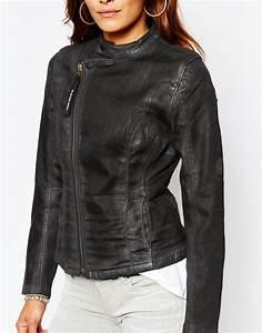 Lyst - G-Star Raw G Star Be Raw Lynn-a Zip Fitted Denim Jacket in Black