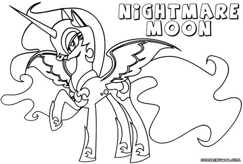 nightmare moon coloring pages coloring pages to download