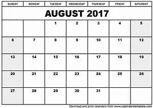 Aussaatkalender 2017 Pdf : august 2017 calendar pdf printable template with holidays ~ Whattoseeinmadrid.com Haus und Dekorationen