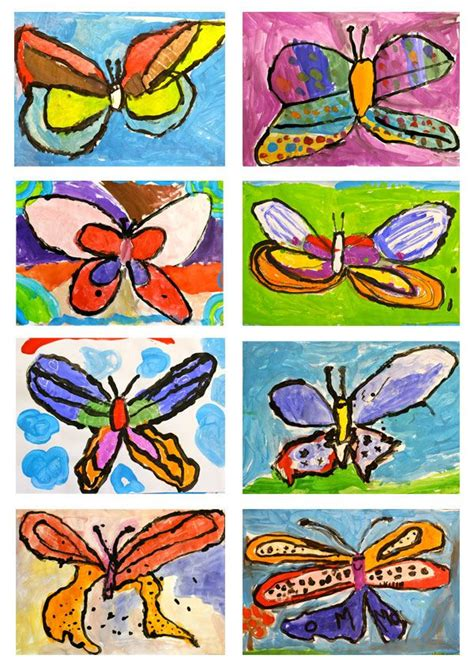 17 best images about butterfly arts and crafts for on 519 | 05576a03a2f08d6774b9e6a1d72e8a5b painting lessons painting art