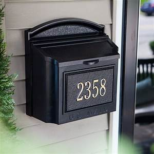 Whitehall personalized wall mount mailbox mailboxes at for Wall mount mailboxes