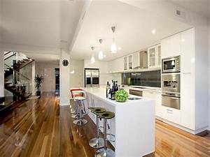 Floorboards in a kitchen design from an Australian home