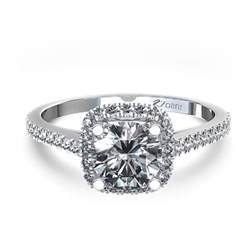 cushion engagement ring halo style cushion cut engagement ring in 14k white gold australia