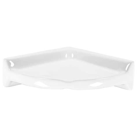 ceramic corner shelf daltile finesse bright white 8 1 2 in x 8 1 2 in x 2 5 8 in ceramic corner shelf