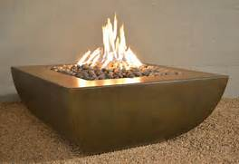 Legacy Square Fire Pit  Modern  Fire Pits  Other Metro  By Yard Art