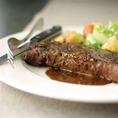 steak au poivre steak au poivre with brandied cream sauce recipe america s test kitchen