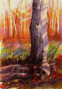 painting trees with liquid frisket watercolorpainting