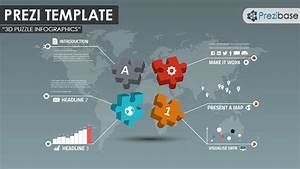An Infographic Prezi Template With Colorful 3d Jigsaw