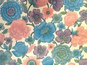 Papier Peint Fleuri Vintage : douceurs et couleurs papier peint fleuri ~ Melissatoandfro.com Idées de Décoration