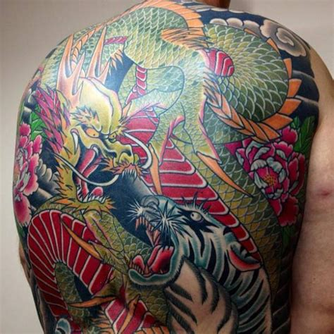 japanese  tiger dragon tattoo  mike chambers
