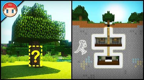 minecraft   build  secret base tutorial  easy hidden house razorxgamer