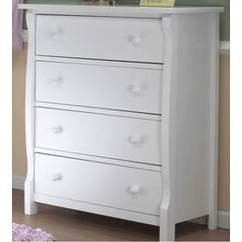 Sorelle Verona Dresser White by Sorelle Tuscany 2 Nursery Set In White Crib 4