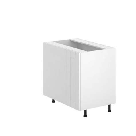 eurostyle 36x34 5x24 5 in stockholm blind corner base cabinet with 1 2 lazy susan in white
