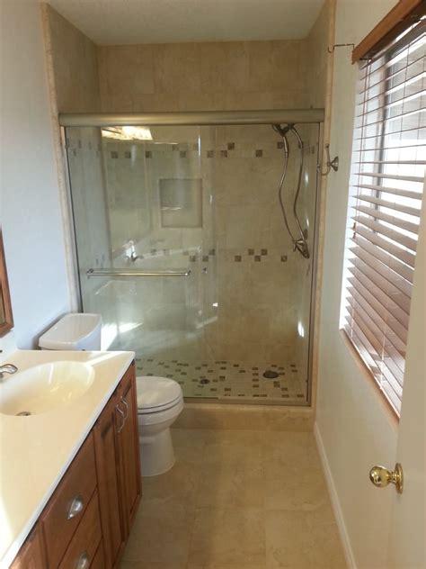 master bathroom remodel removed fiberglass shower and