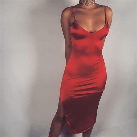 Red Silk Dress | All Dress