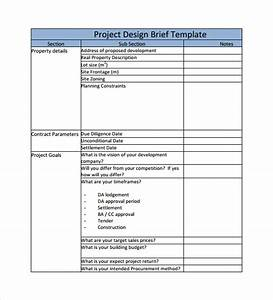 sample project brief template 7 free documents in pdf word With photo brief template