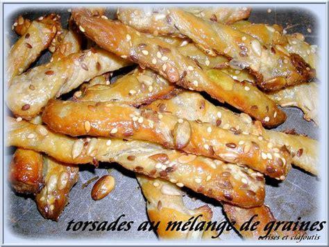 torsades salees au melanges de graines cerises et clafoutis