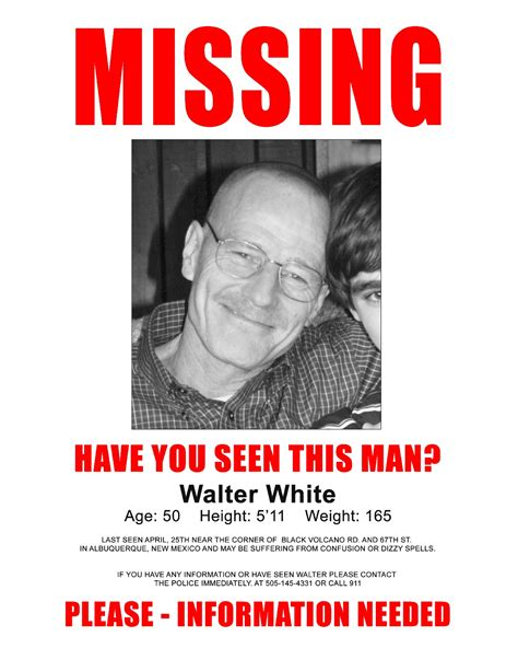 walts missing poster sitcoms  photo galleries