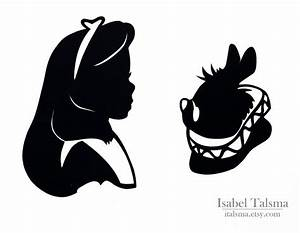 Alice and White Rabbit Silhouettes | Love | Pinterest ...