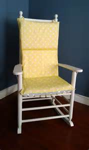 rocking chair cushion cover yellow grey polka by rockincushions