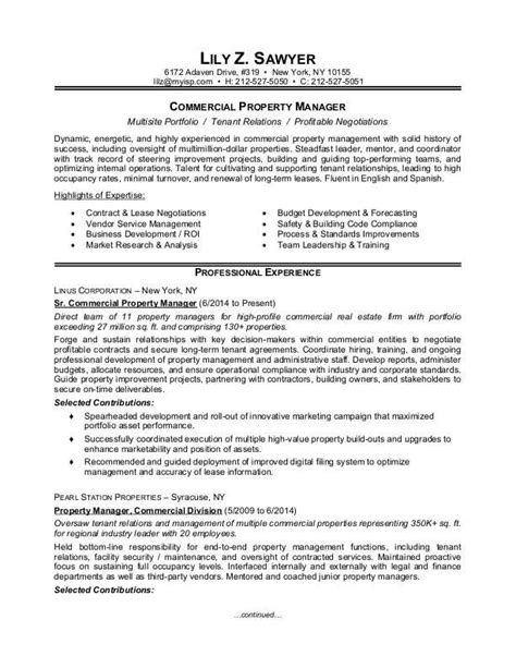 Cover Letter For Property Management Position by Property Manager Resume Sle